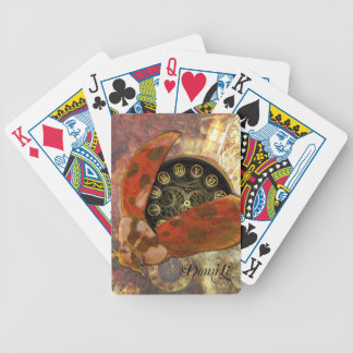 Steampunk Ladybug Bicycle Playing Cards