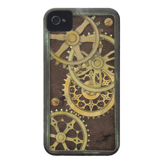 Steampunk Leather and Brass iPhone 4 Case-Mate Case