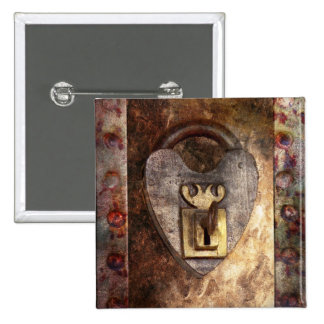 Steampunk - Locksmith - The key to my heart 15 Cm Square Badge