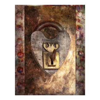 Steampunk - Locksmith - The key to my heart 21.5 Cm X 28 Cm Flyer