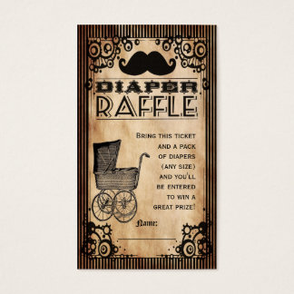 Steampunk Look Baby Boy Diaper Raffle Ticket
