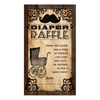 Steampunk Look Baby Boy Diaper Raffle Ticket Pack Of Standard Business Cards