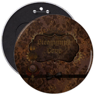 Steampunk Love 2 6 Cm Round Badge
