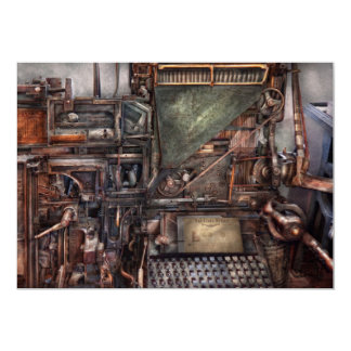 Steampunk - Machine - All the bells and whistles Personalized Announcement