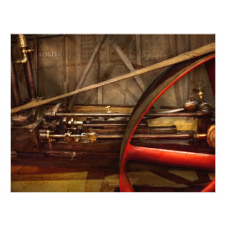 Steampunk - Machine - The wheel works 21.5 Cm X 28 Cm Flyer