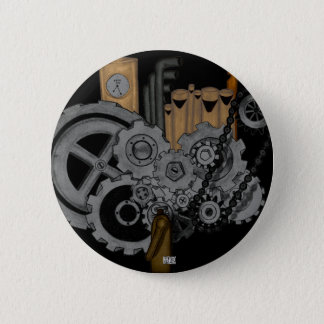 Steampunk Machinery 6 Cm Round Badge