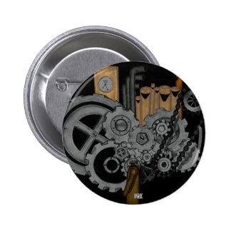 Steampunk Machinery 6 Cm Round Badge