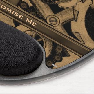 Steampunk Machinery (Brassy) Gel Mouse Pad