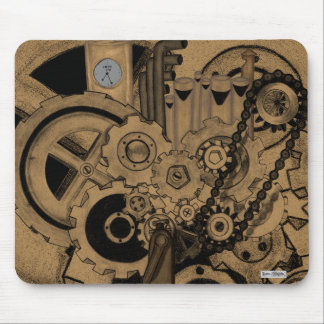 Steampunk Machinery (Brassy) Mouse Pad