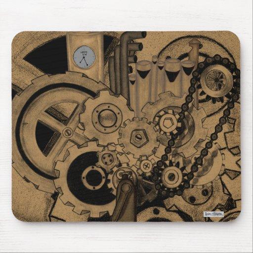 Steampunk Machinery (Brassy) Mouse Pads