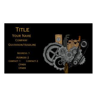 Steampunk Machinery Business Card Template