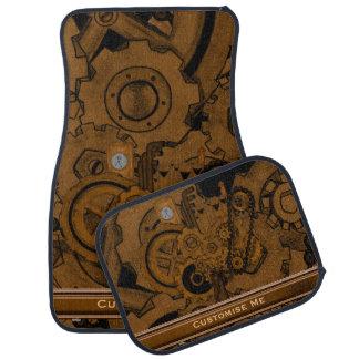 Steampunk Machinery (Copper) Car Mat