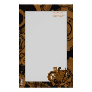 Steampunk Machinery (Copper) Customised Stationery