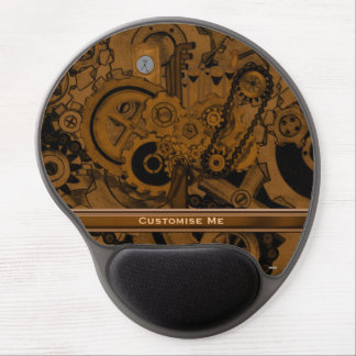 Steampunk Machinery (Copper) Gel Mouse Pad