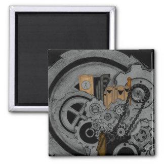 Steampunk Machinery Magnet