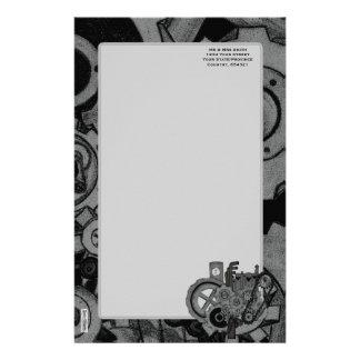 Steampunk Machinery (Monochrome) Stationery