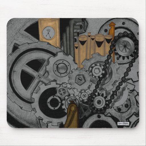 Steampunk Machinery Mouse Pads