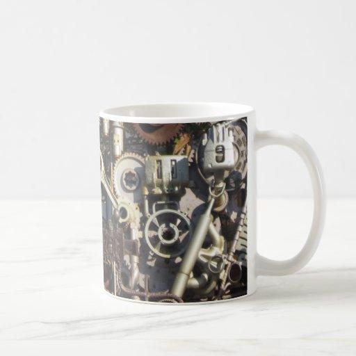 Steampunk machinery mug