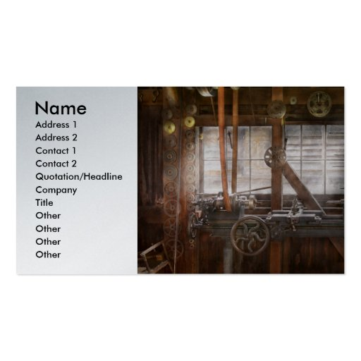 Steampunk - Machinist - My tinkering workshop Business Cards