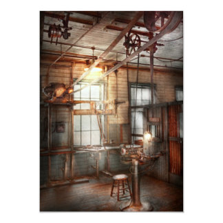 Steampunk - Machinist - The grinding station 13 Cm X 18 Cm Invitation Card