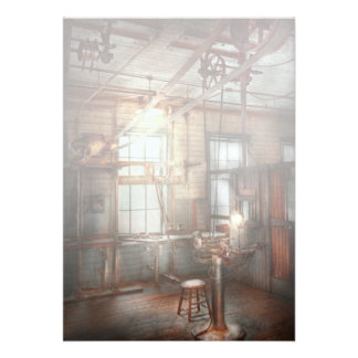Steampunk - Machinist - The grinding station Personalized Announcements
