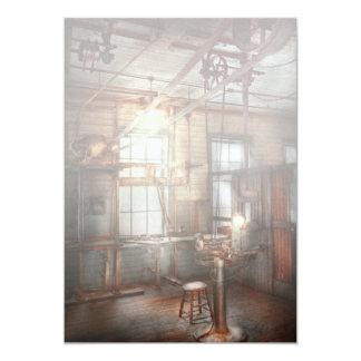 Steampunk - Machinist - The grinding station 13 Cm X 18 Cm Invitation Card