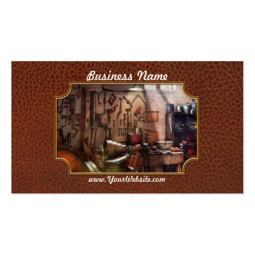 Steampunk - Machinist - The inventors workshop Business Card Templates
