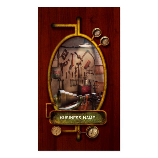 Steampunk - Machinist - The inventors workshop Business Card Template