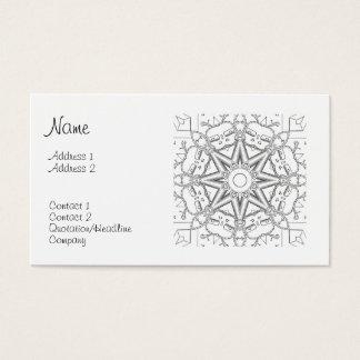 Steampunk Mandala Business Card