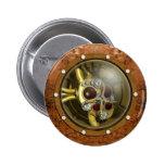 Steampunk Mechanical Heart 6 Cm Round Badge