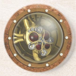 Steampunk Mechanical Heart Coaster