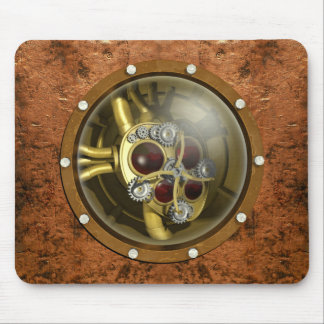 Steampunk Mechanical Heart Mouse Mat
