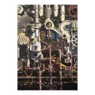 Steampunk mechanical machinery machines 9 cm x 13 cm invitation card