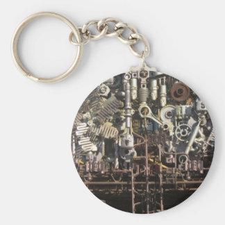 Steampunk mechanical machinery machines key ring
