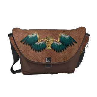 Steampunk Mechanical Wings Brown Courier Bag