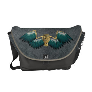 Steampunk Mechanical Wings Grey Commuter Bag