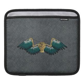 Steampunk Mechanical Wings Grey iPad Sleeve