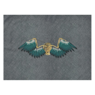 Steampunk Mechanical Wings Grey Tablecloth