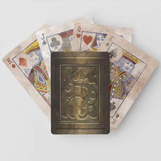 Steampunk Metal Bicycle Playing Cards