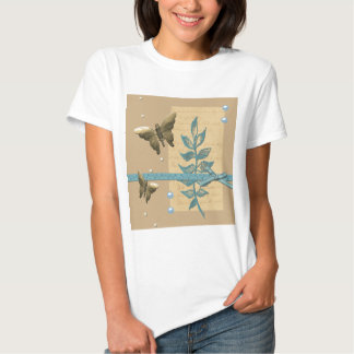 Steampunk Metal Butterfly Tee Shirts