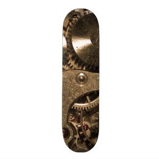 Steampunk Metal Clock Gears Custom Skateboard