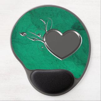 Steampunk Metal Heart Gel Mouse Pad