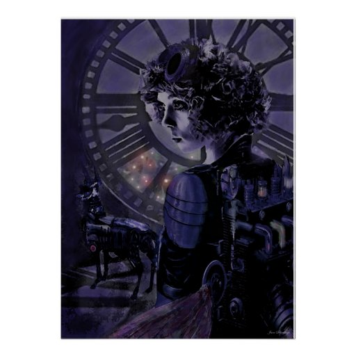 steampunk midnight posters