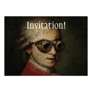 Steampunk Mozart Personalized Announcement