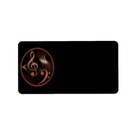 Steampunk Music Design labels (medium)