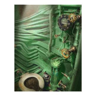 Steampunk - Naval - Plumbing - The head 21.5 Cm X 28 Cm Flyer