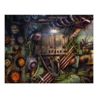 Steampunk - Naval - The comm station 21.5 Cm X 28 Cm Flyer