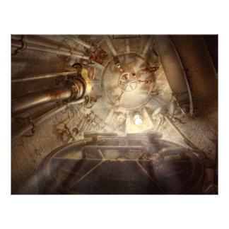 Steampunk - Naval - The escape hatch Flyer Design