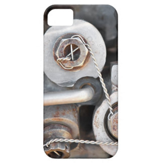 Steampunk nuts and bolts with wire case for the iPhone 5