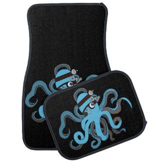 Steampunk octopus car mat